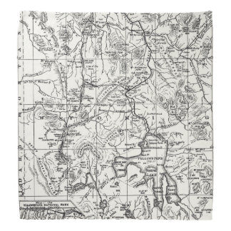 Vintage Map of Yellowstone National Park Bandana