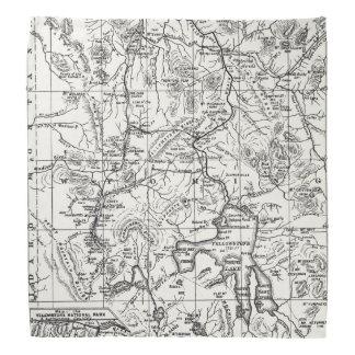 Vintage Map of Yellowstone National Park Bandana