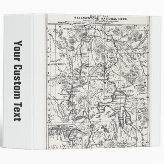 Vintage Map of Yellowstone National Park Binder