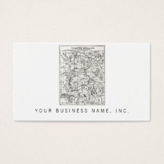 Vintage Map of Yellowstone National Park Business Card