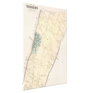 Vintage Map of Yonkers New York (1867) Canvas Print