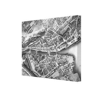 Vintage Map of Zurich Switzerland (1850) Gallery Wrap Canvas