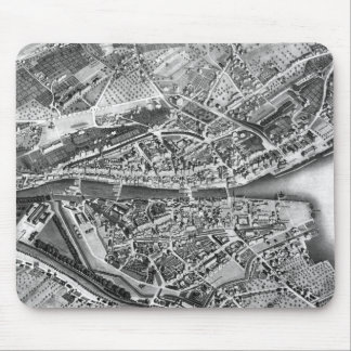 Vintage Map of Zurich Switzerland (1850) Mouse Pad