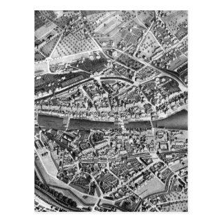 Vintage Map of Zurich Switzerland 1850 Post Cards
