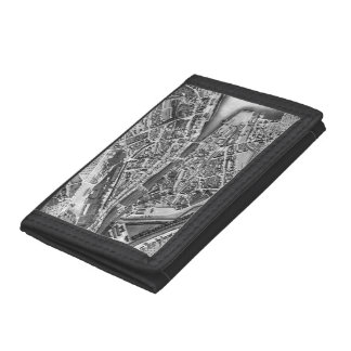 Vintage Map of Zurich Switzerland (1850) Tri-fold Wallet