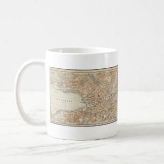 Vintage Map of Zurich Switzerland (1913) Coffee Mug