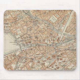 Vintage Map of Zurich Switzerland (1913) Mouse Pad