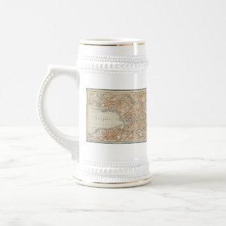 Vintage Map of Zurich Switzerland (1913) Coffee Mugs