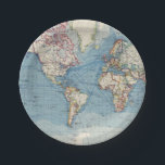 """Vintage Map Paper Plates<br><div class=""""desc"""">Vintage map paper plates with old world map background. These vintage map paper plates can easily be customized for your event by simply adding the text of your choice in the font style you prefer.</div>"""