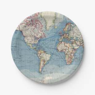World Map Party Supplies.Old World Map Party Supplies Zazzle