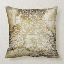 Vintage Map Pillow throwpillow