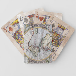Vintage Map Bicycle Playing Cards