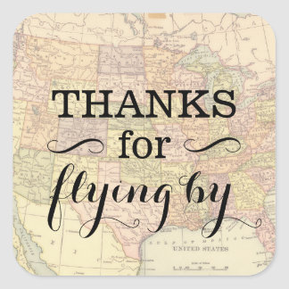 Vintage Map Sticker - Customizable Text