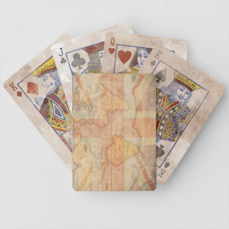 Vintage Map with UK Flag Playing Cards