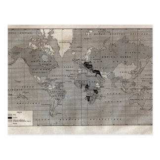 "Vintage map,  ""World War I"" circa 1920 Postcard"
