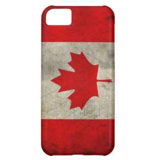 Vintage Maple Leaf Canadian Flag Cover For iPhone 5C