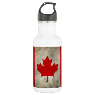 Vintage Maple Leaf Canadian Flag Stainless Steel Water Bottle