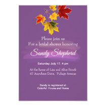 Vintage maple  leaves  - bridal shower invitation