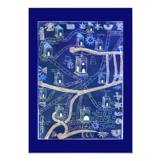 """Vintage Mapping Cemetery Map Genealogy Invitations 5"""" X 7"""" Invitation Card"""