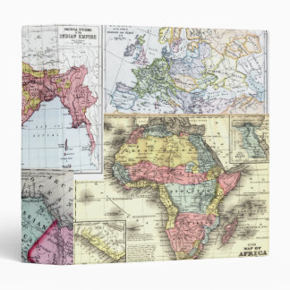 Vintage Maps 3 Ring Binder