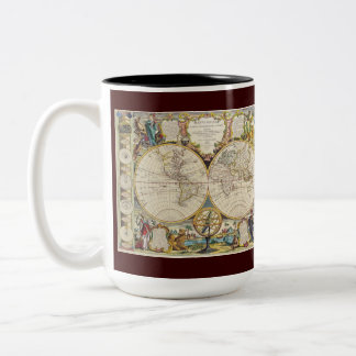 Vintage Maps from around the World Coffee Mugs