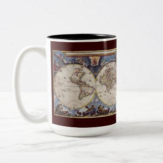 Vintage Maps from around the World Mug