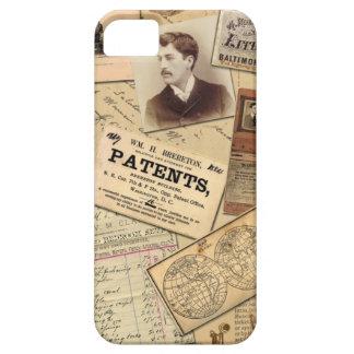 Vintage Maps Images & Paperwork Collage iPhone SE/5/5s Case