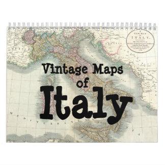 Vintage Maps of Italy Calendar