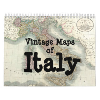 Vintage Maps of Italy Calendar