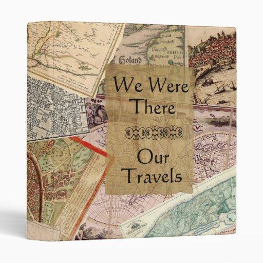 Vintage Maps Travel Album Binder