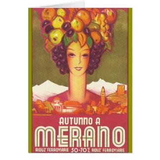 Vintage Marano, arte del poster del viaje de Itali Tarjeta De Felicitación