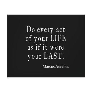 Vintage Marcus Aurelius Last Act of Life Quote Canvas Print