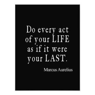 Vintage Marcus Aurelius Last Act of Life Quote Photo Print
