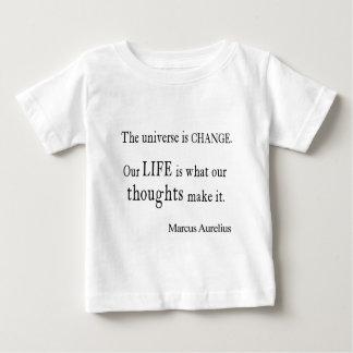 Vintage Marcus Aurelius Universe Change Life Quote Baby T-Shirt