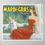 Vintage Mardi Gras Fruit Crate Label Poster