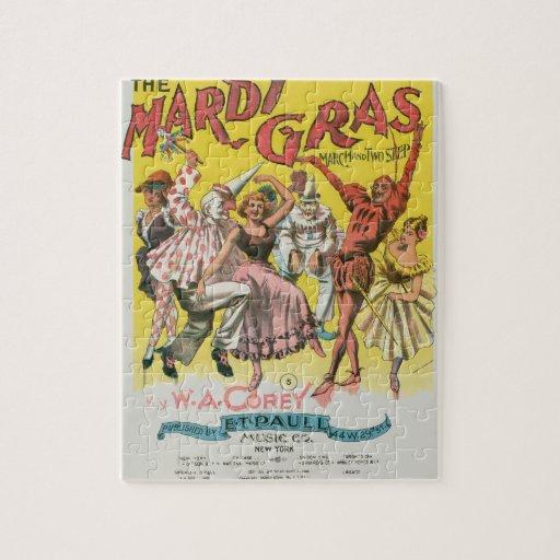 Vintage Mardi Gras Poster Puzzles