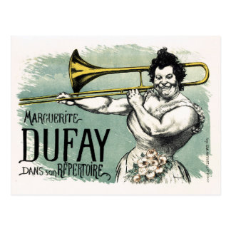 Vintage Marguerite Dufay Trombone Postcard