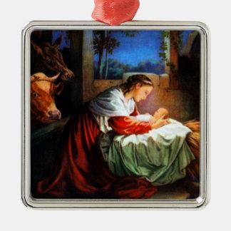 Vintage Maria y ornamento de Jesús del bebé Ornamentos De Reyes Magos