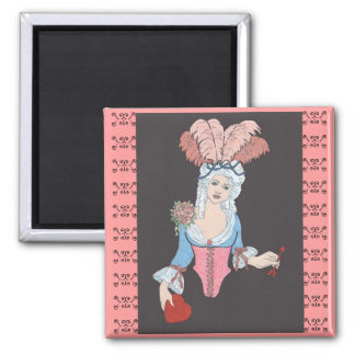 Vintage Marie 2 Inch Square Magnet