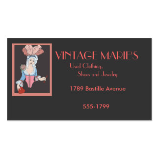 Vintage Marie's Double-Sided Standard Business Cards (Pack Of 100)