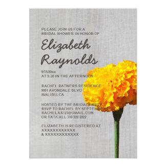 Vintage Marigold Bridal Shower Invitations Personalized Invite