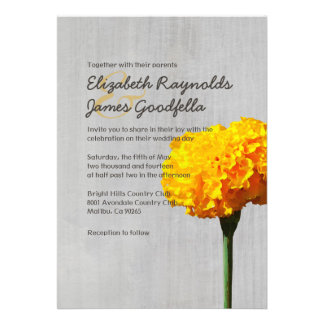 Vintage Marigold Wedding Invitations Custom Announcement