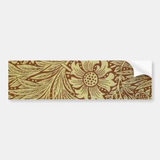 Vintage Marigold William Morris Wallpaper Design Car Bumper Sticker