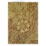Vintage Marigold William Morris Wallpaper Design Card