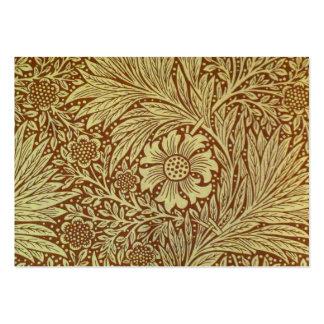 Vintage Marigold William Morris Wallpaper Design Large Business Card