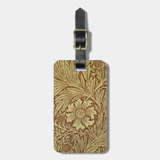 Vintage Marigold William Morris Wallpaper Design Travel Bag Tag
