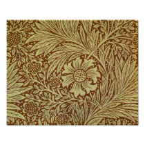 Vintage Marigold William Morris Wallpaper Design Poster