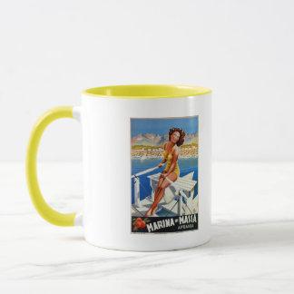 Vintage Marina di Massa Italian travel advertising Mug