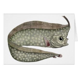 Vintage Marine Aquatic Life, Crested Oarfish, Fish Greeting Card
