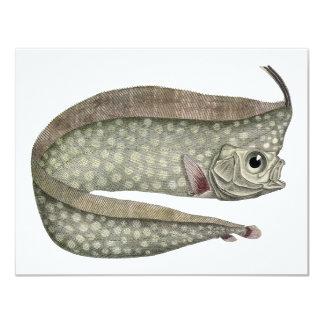 Vintage Marine Aquatic Life, Crested Oarfish, Fish 4.25x5.5 Paper Invitation Card